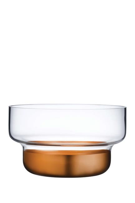 Image of Nude Glass Contour Bowl - Small with Clear Top and Copper Base