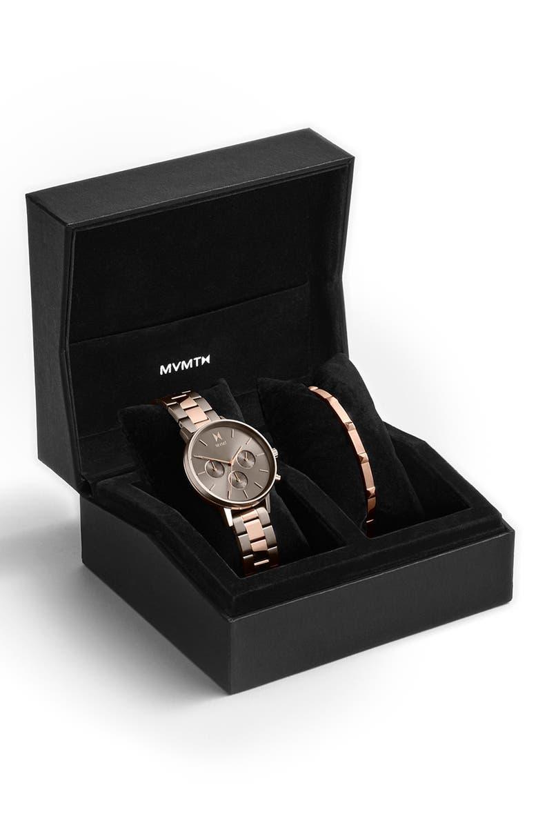 MVMT Nova - Orion Bracelet Watch Set, 38mm, Main, color, ROSE GOLD/ GREY/ ROSE GOLD