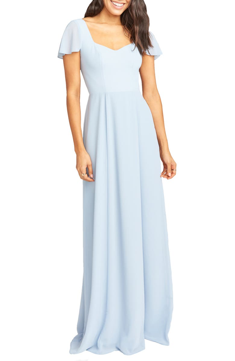 SHOW ME YOUR MUMU Marie Sweetheart Gown, Main, color, STEEL BLIE