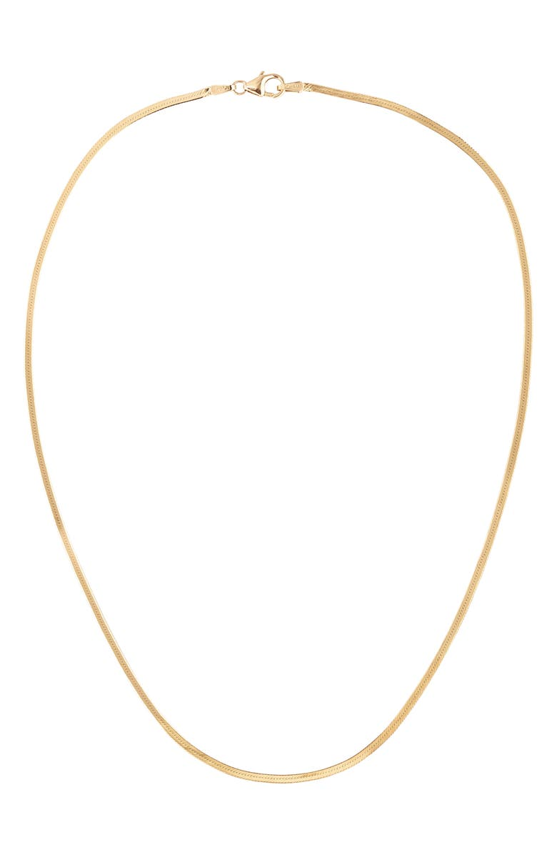 LANA JEWELRY Thin Liquid Gold Choker Necklace, Main, color, YELLOW GOLD
