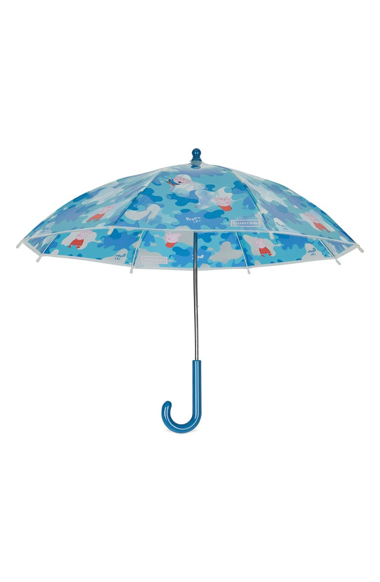 HUNTER Peppa Muddy Puddles Umbrella, Main, color, FORGET ME NOT
