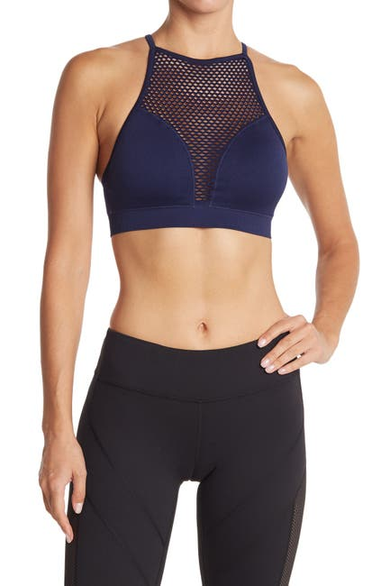 Image of 90 Degree By Reflex Missy Mesh Front T-Back Seamless Sport Bra