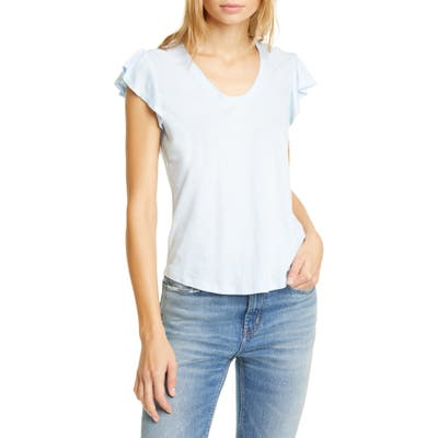 La Vie Rebecca Taylor Washed Texture Jersey Tee, Blue