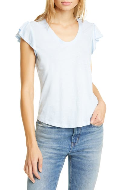 La Vie Rebecca Taylor Tops WASHED TEXTURE JERSEY TEE