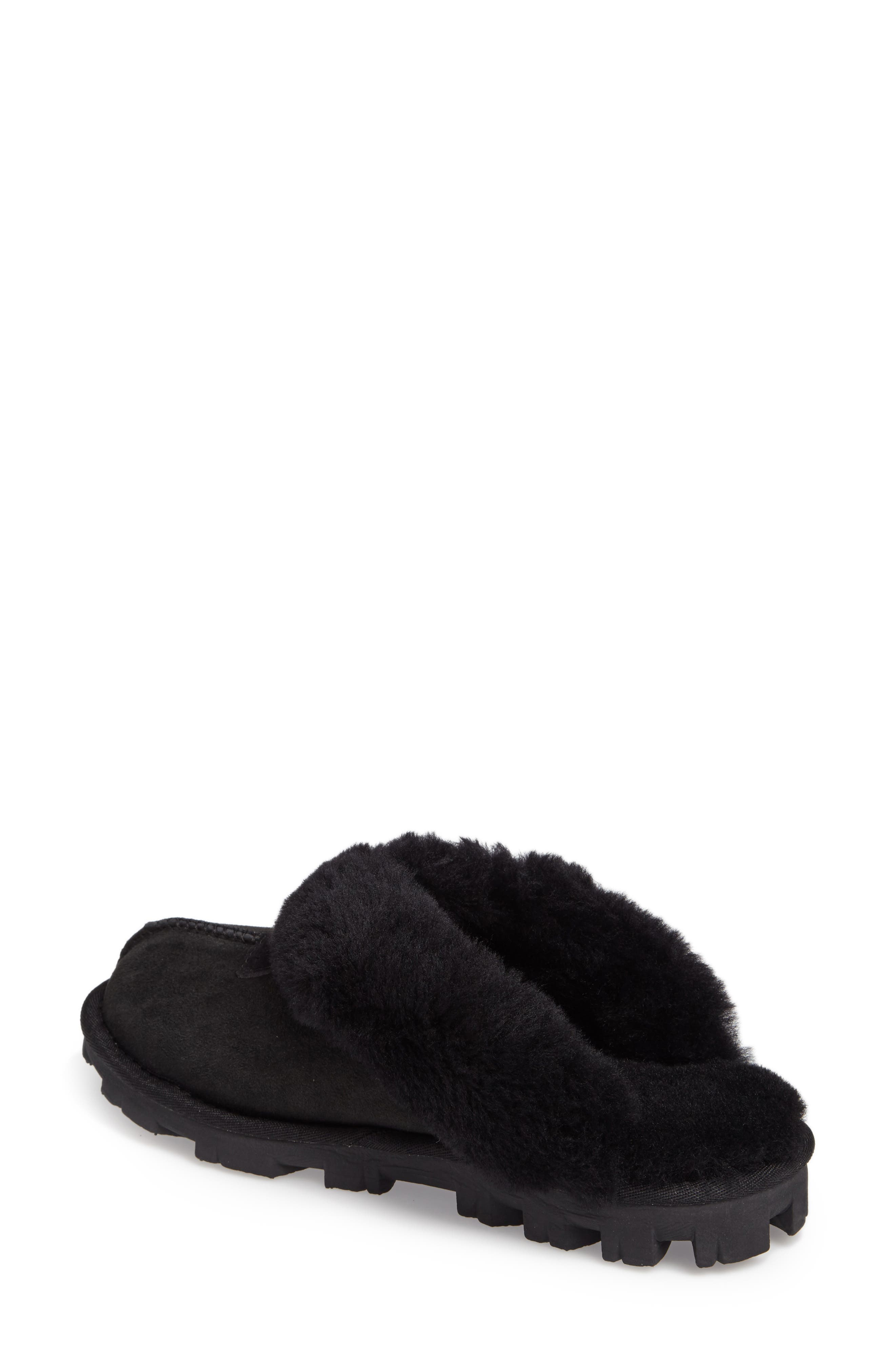 ,                             Genuine Shearling Slipper,                             Alternate thumbnail 153, color,                             BLK