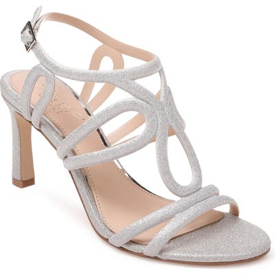 Jewel Badgley Mischka Simba Embellished Strappy Sandal- Metallic
