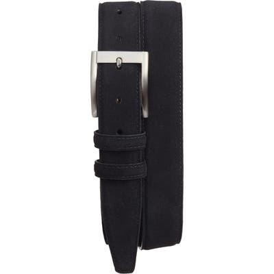 Torino Suede Belt, Black