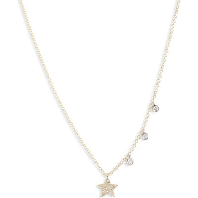 Meira T Diamond Pave Charm Necklace