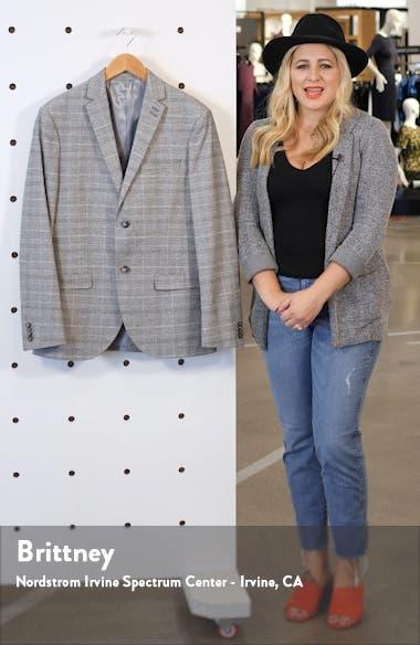 Hopper Check Slim Fit Blazer, sales video thumbnail