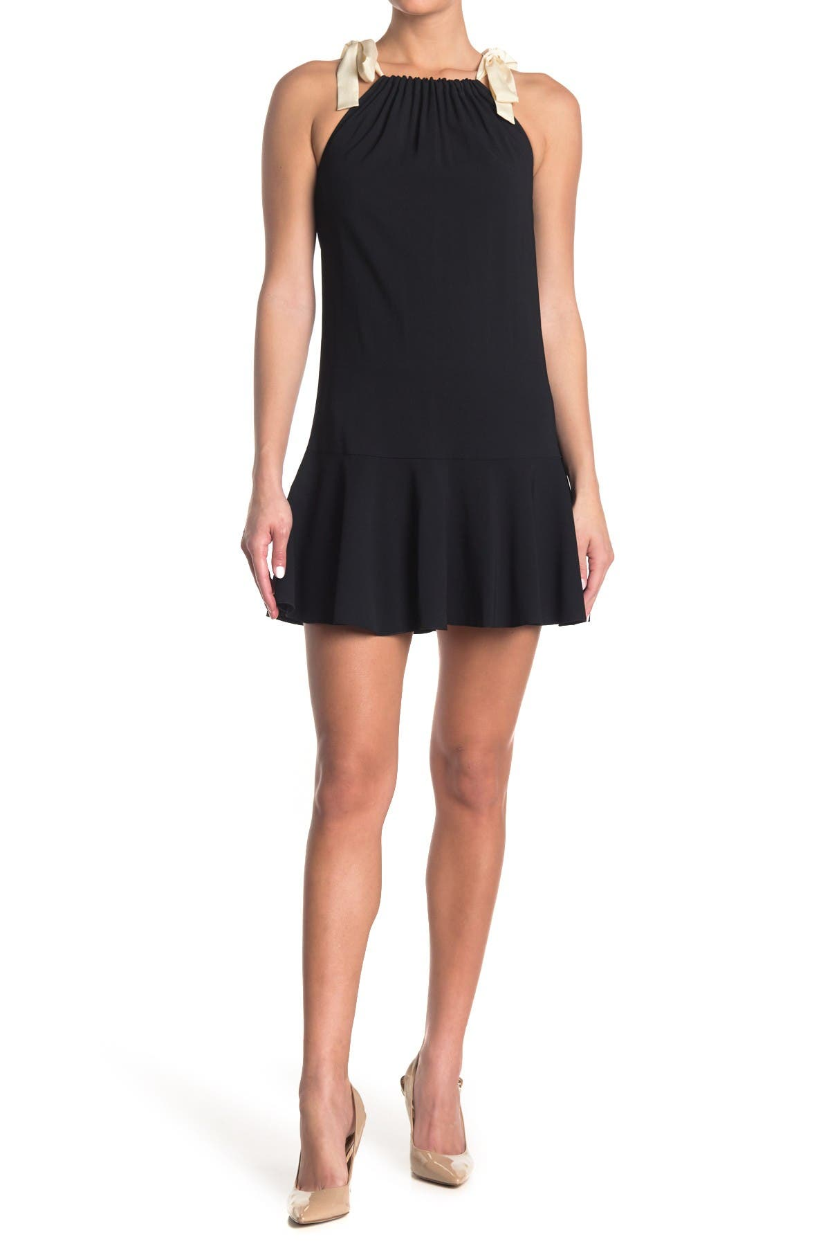 Image of RED Valentino Tie Strap Ruffle Dress