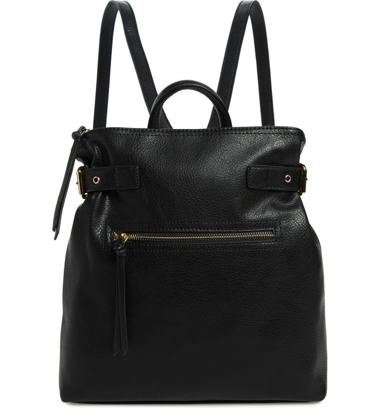 SOLE SOCIETY Dael Faux Leather Backpack, Main, color, 001
