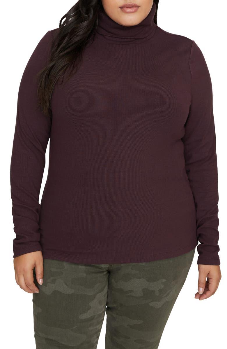 SANCTUARY Essential Turtleneck Sweater, Main, color, AMETHYST
