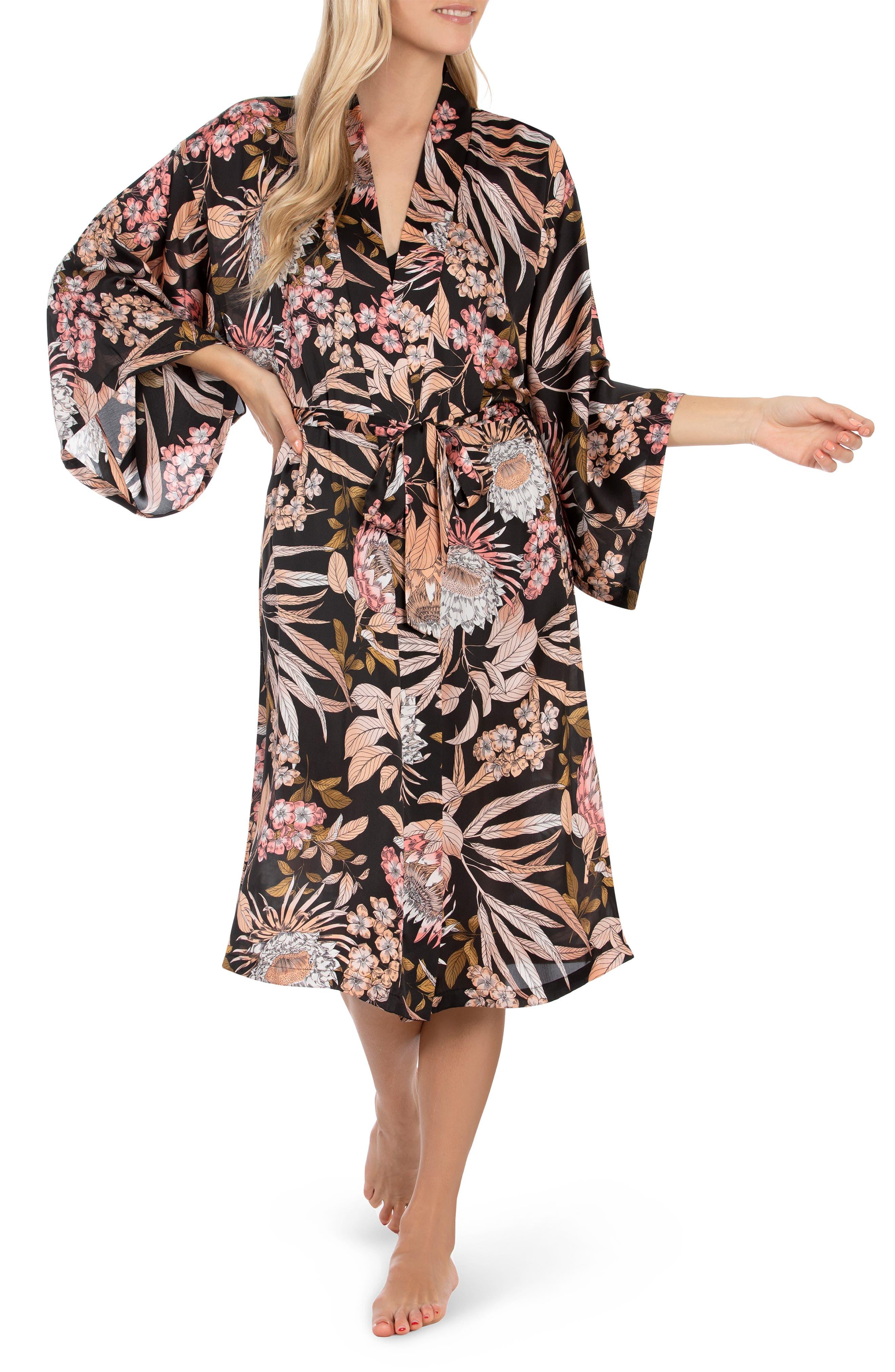 Botanical Satin Robe