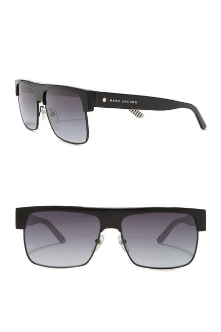 Image of Marc Jacobs 57mm Flat Top Sunglases
