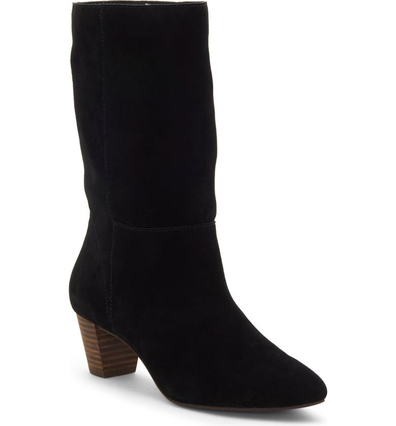 LUCKY BRAND Zaahira Boot, Main, color, BLACK SUEDE