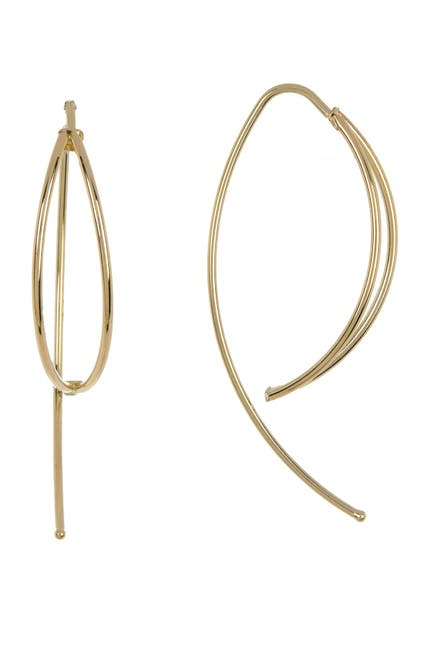 Image of Candela 14K Gold Marquis Shaped Dangle Earrings