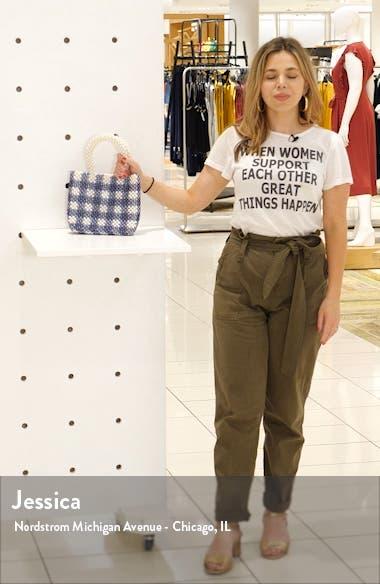 Penelope Imitation Pearl Check Handbag, sales video thumbnail