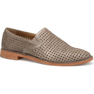 Trask Ali Perforated Loafer, Grey