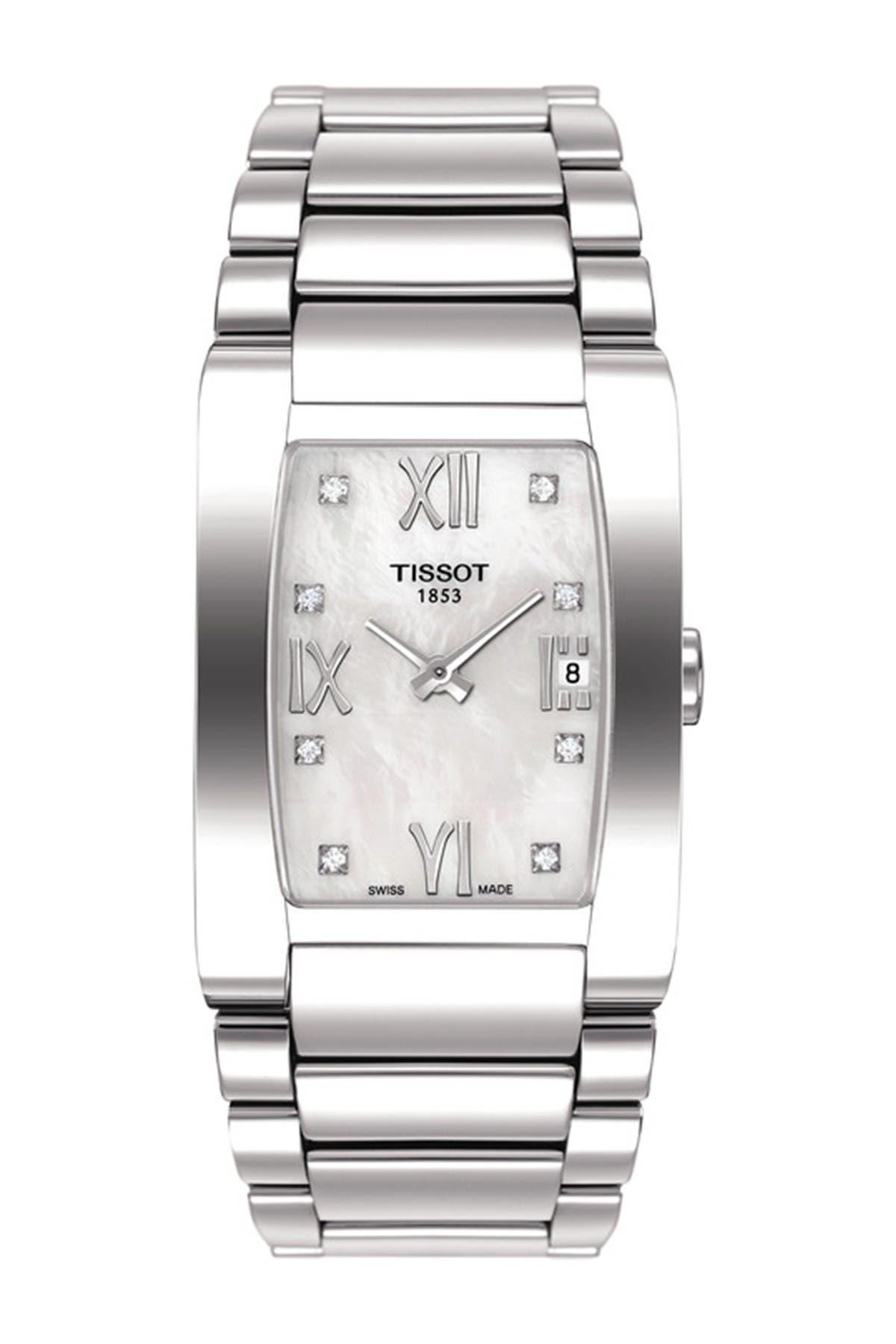 Image of Tissot Women's Generosi-T Diamond Bracelet Watch, 25mm - 0.073 ctw