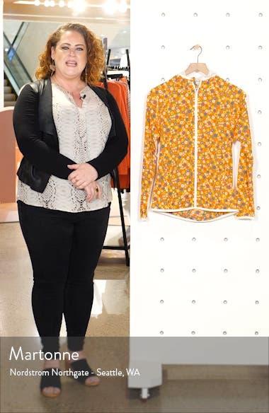 Floral Print Waterproof Packable Jacket, sales video thumbnail