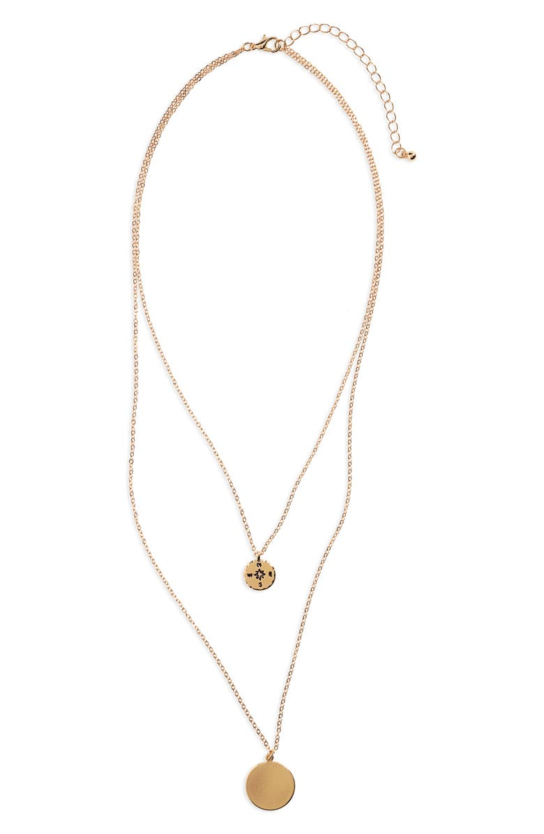 BP. Layered Disc Necklace, Main, color, 710