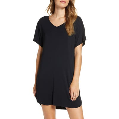 Nordstrom Moonlight Dolman Nightshirt, Black