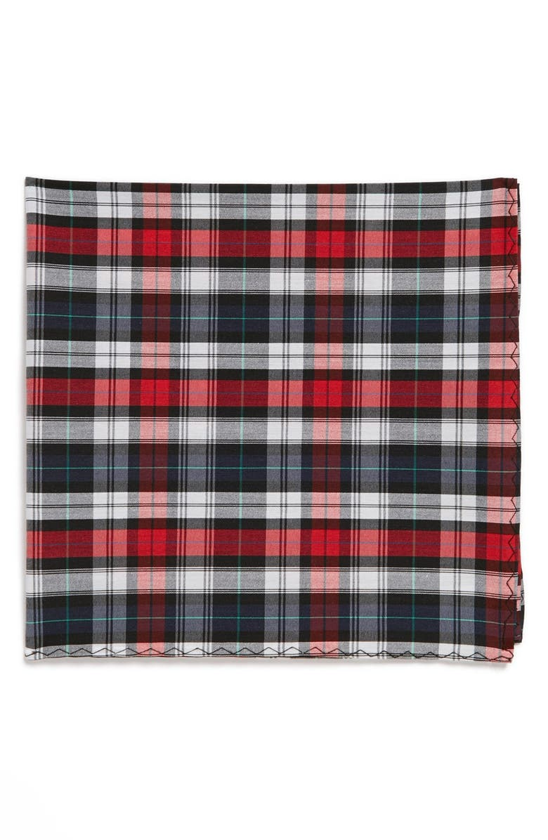 ORIGINAL PENGUIN 'Sturgess Plaid' Cotton Pocket Square, Main, color, 600