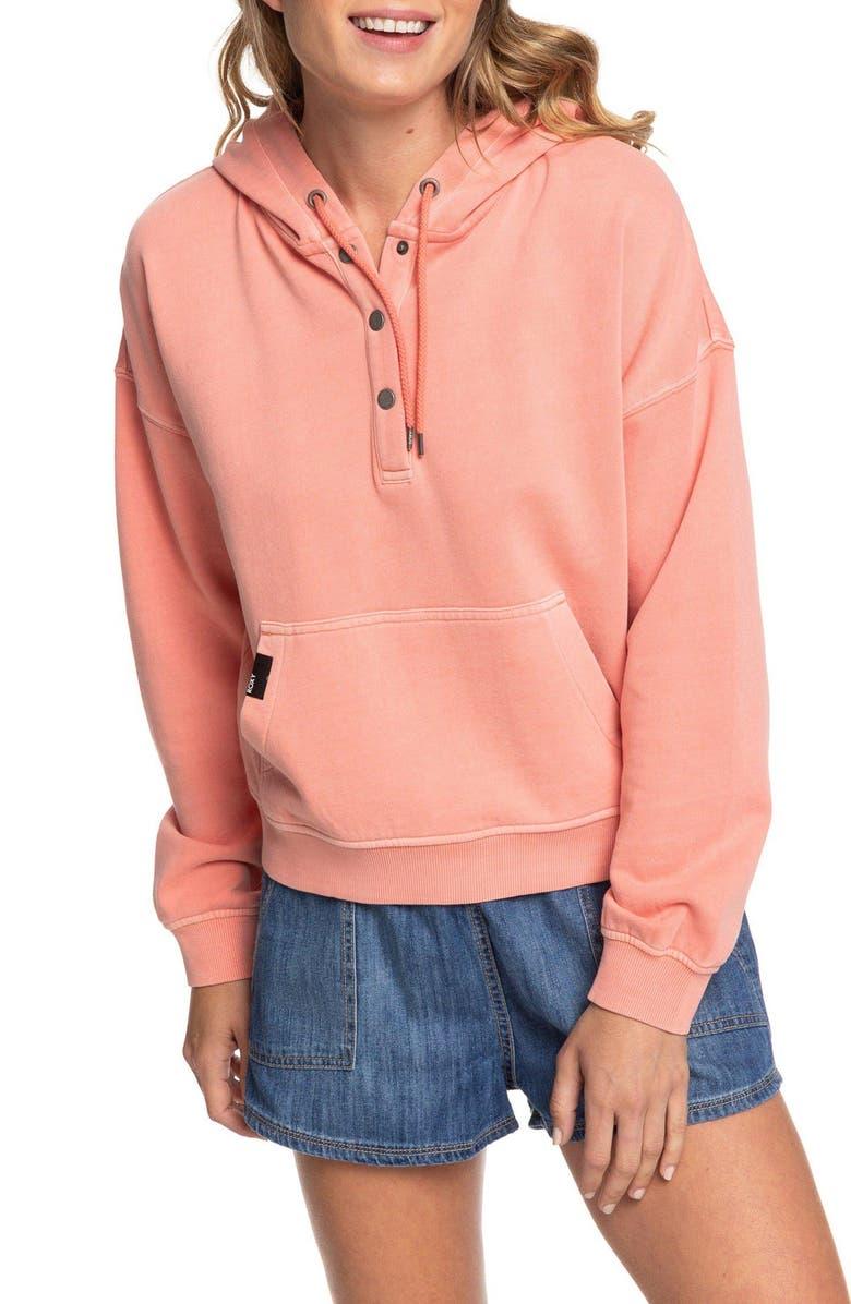 ROXY Girls Who Slide Hooded Sweatshirt, Main, color, 600