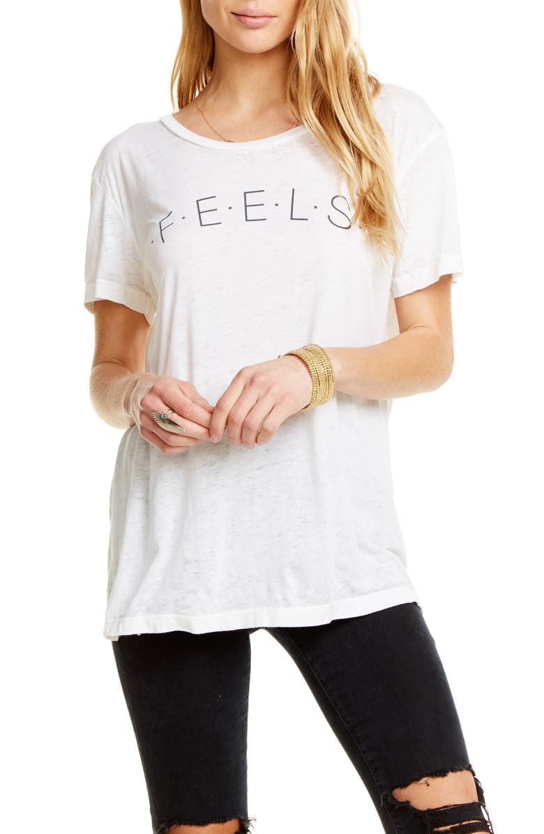 CHASER Feels Tee, Main, color, WHITE