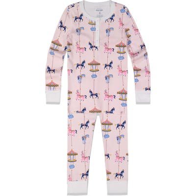 Toddler Roller Rabbit Carousel Fitted Two-Piece Pajamas, Y - Pink