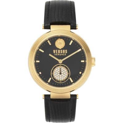 Versus Versace Star Ferry Leather Strap Watch,