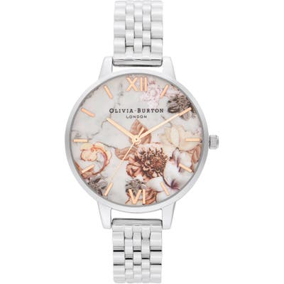 Olivia Burton Marble Florals Bracelet Watch,