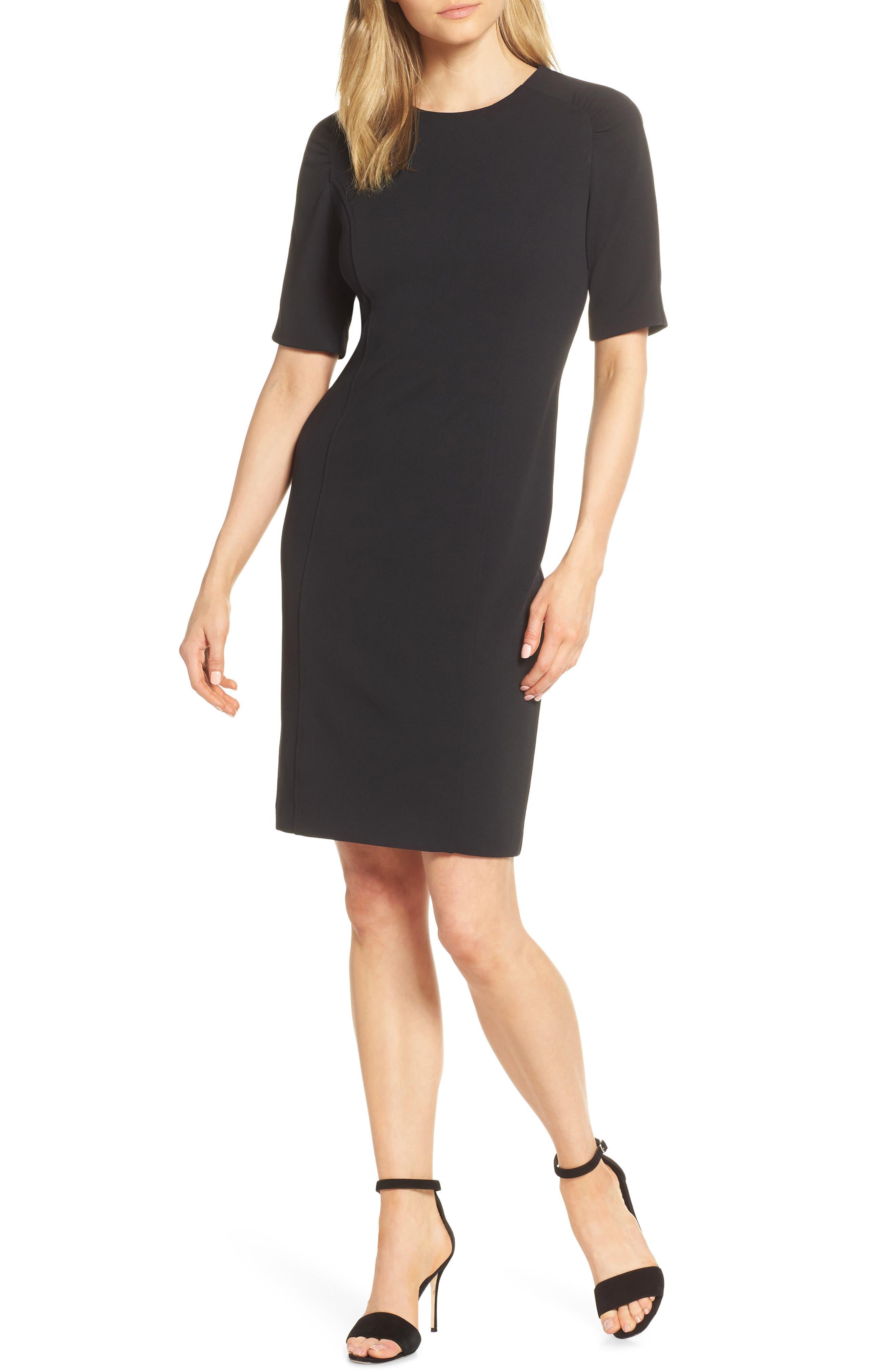 Petite Harper Rose Stretch Sheath Dress, Black