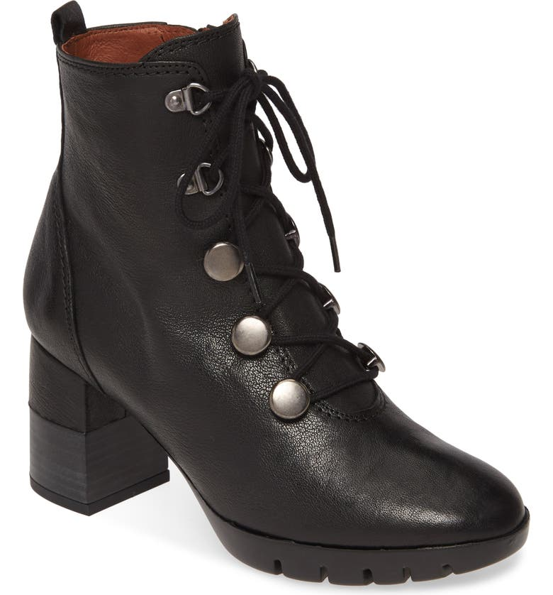 HISPANITAS Ariel Lace-Up Boot, Main, color, OLD IRON BLACK LEATHER