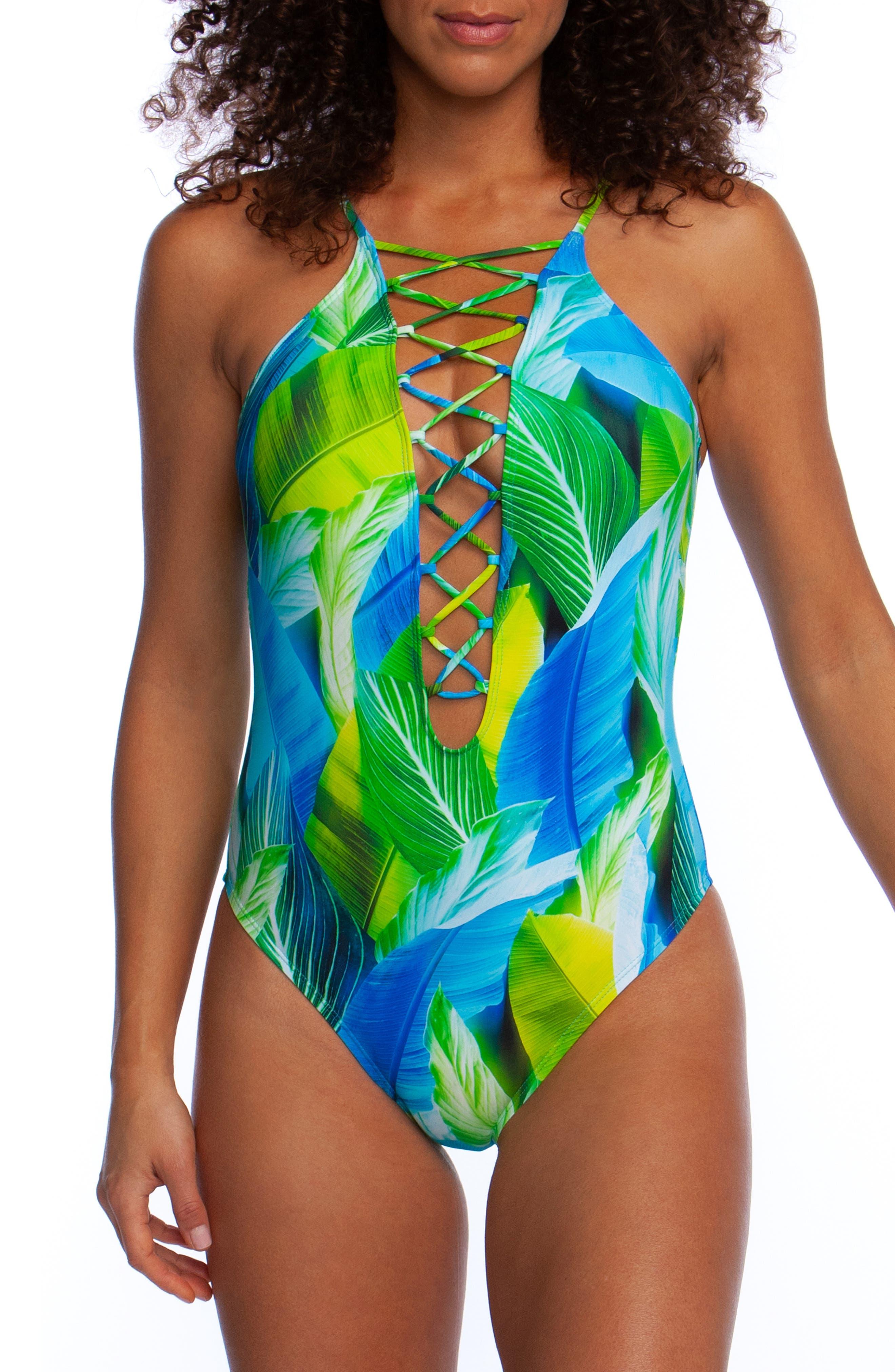 La Blanca Tropic Day One-Piece Swimsuit, Blue
