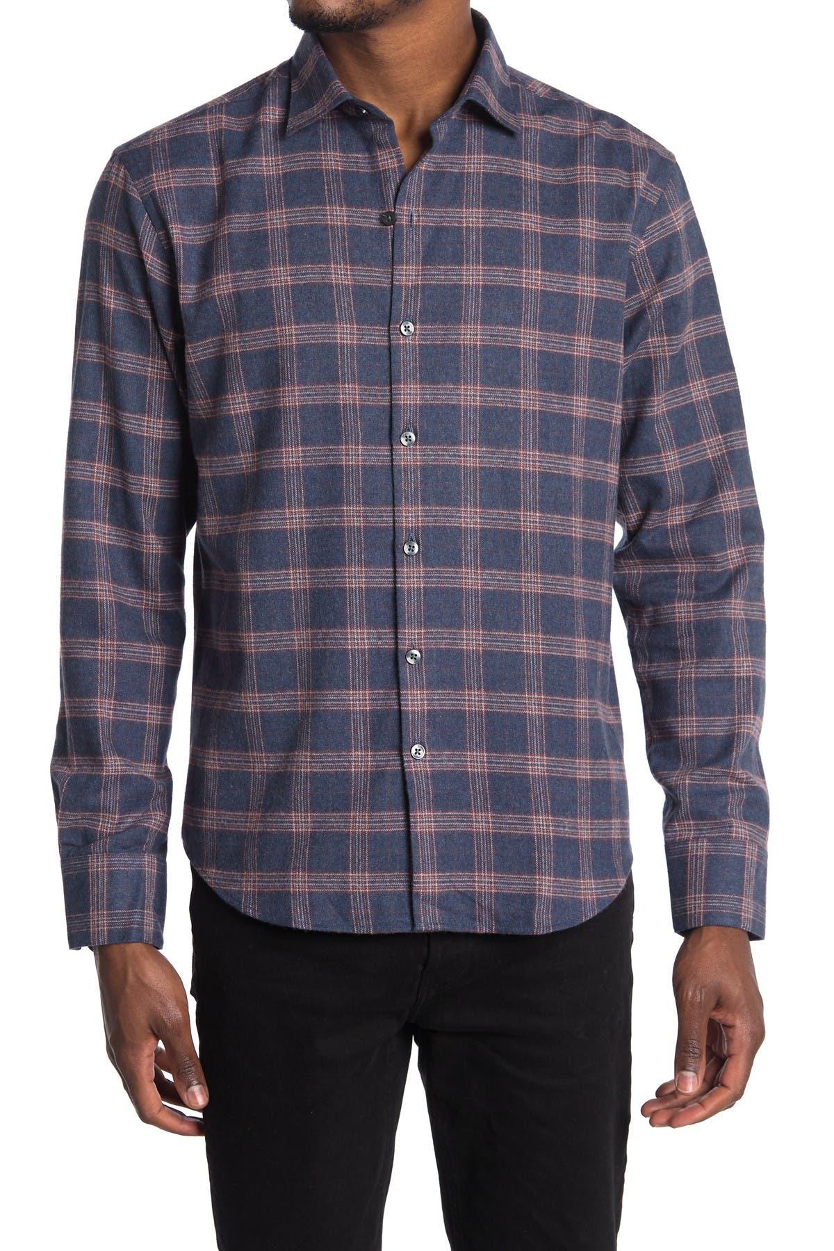 Image of ROBERT BARAKETT Rivington Long Sleeve Woven Shirt