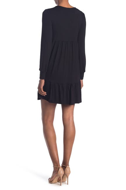 Image of RD Style V-Neck Long Sleeve Tiered Dress