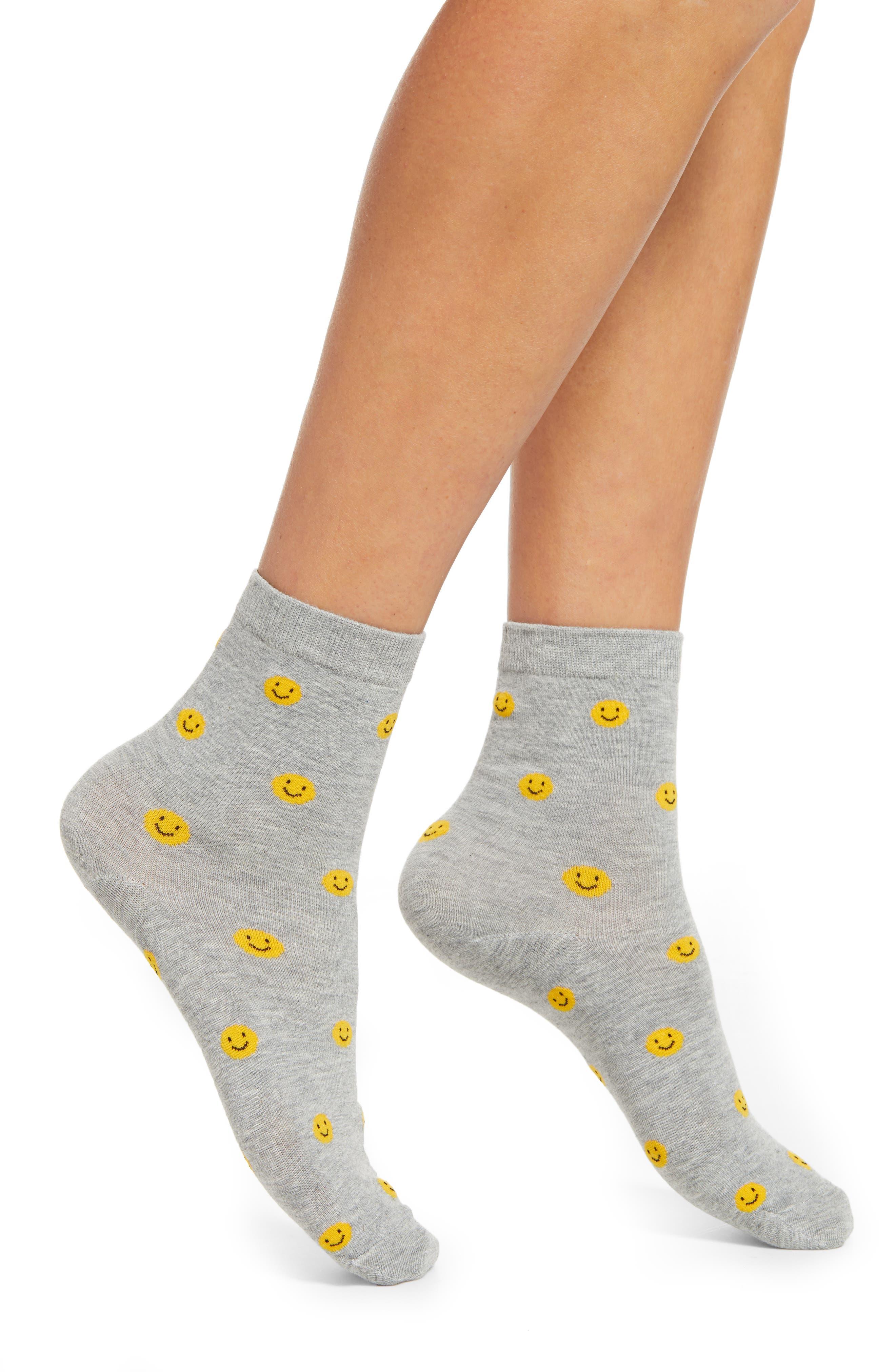 Prima Smiley Crew Socks | Nordstrom