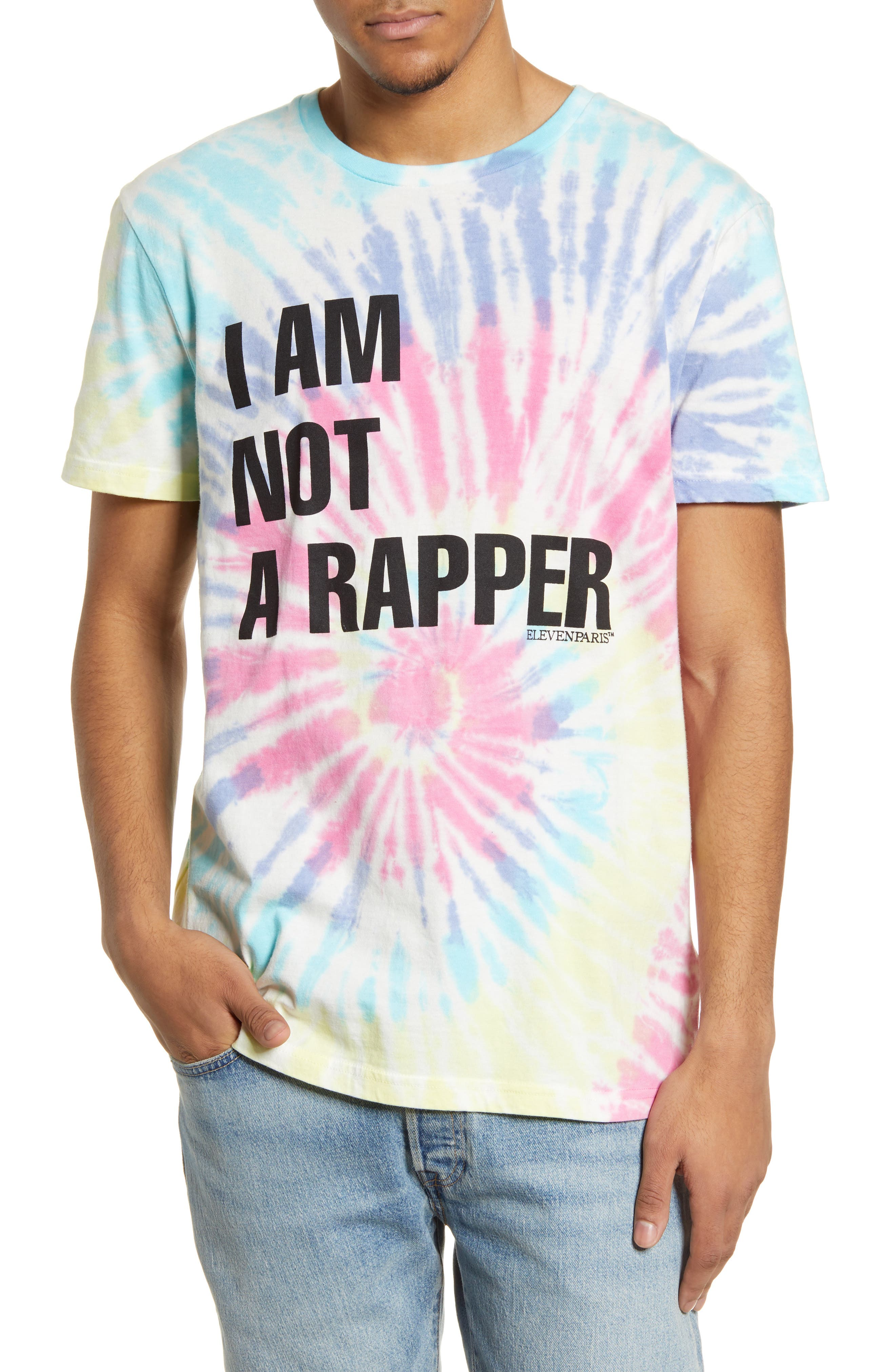 Niam Rapper Tie Dye Graphic Tee