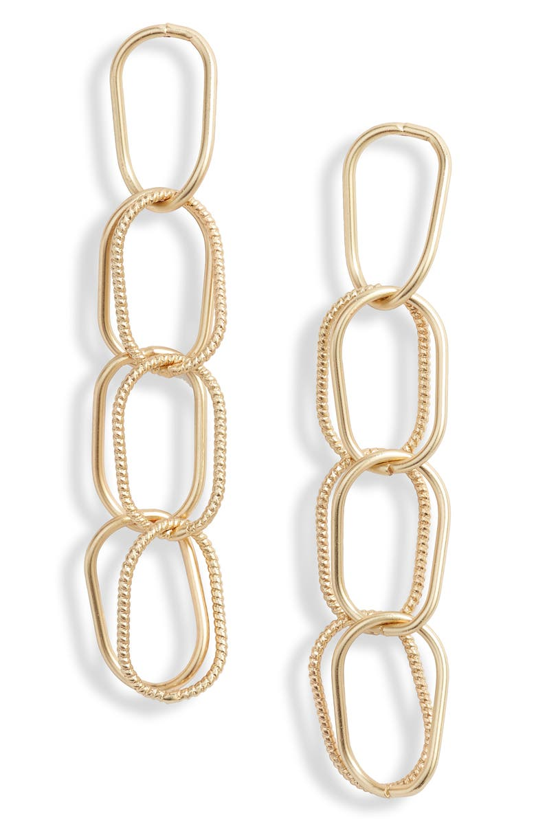 TEN79LA Chain Link Drop Earrings, Main, color, 710