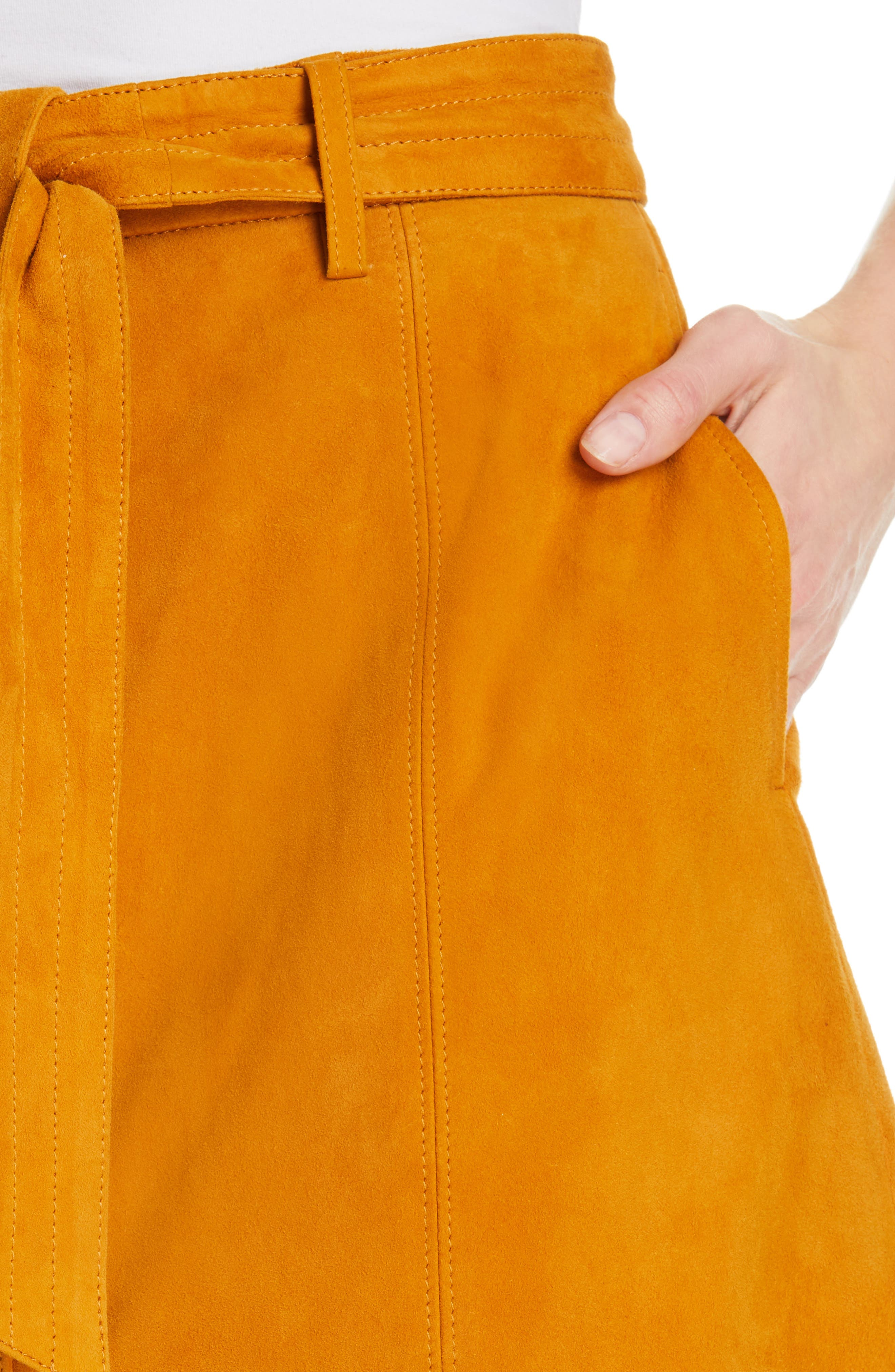 ,                             Neida Suede Miniskirt,                             Alternate thumbnail 10, color,                             800