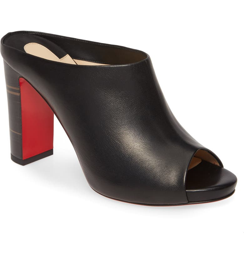 CHRISTIAN LOUBOUTIN Corinthe Slip-On Sandal, Main, color, BLACK