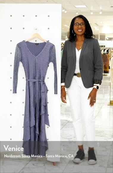 Long Sleeve Charmeuse & Chiffon Maxi Dress, sales video thumbnail