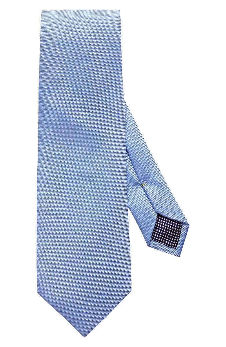ETON Solid Silk Tie, Main, color, BLUE