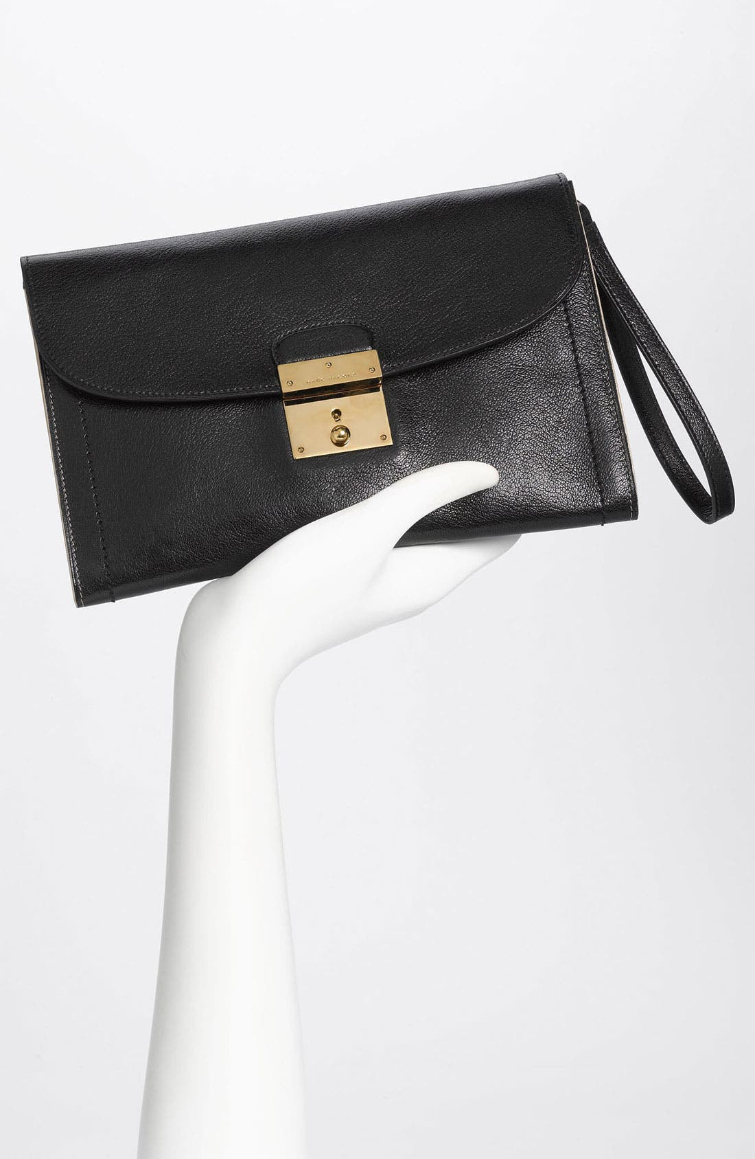 ,                             '1984 Isobel' Leather Clutch,                             Alternate thumbnail 3, color,                             001