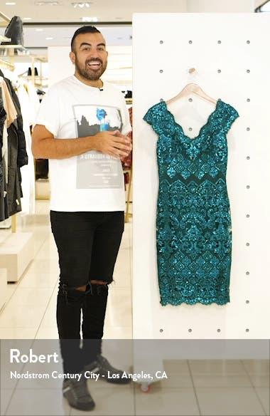 Sequin Lace Cocktail Dress, sales video thumbnail