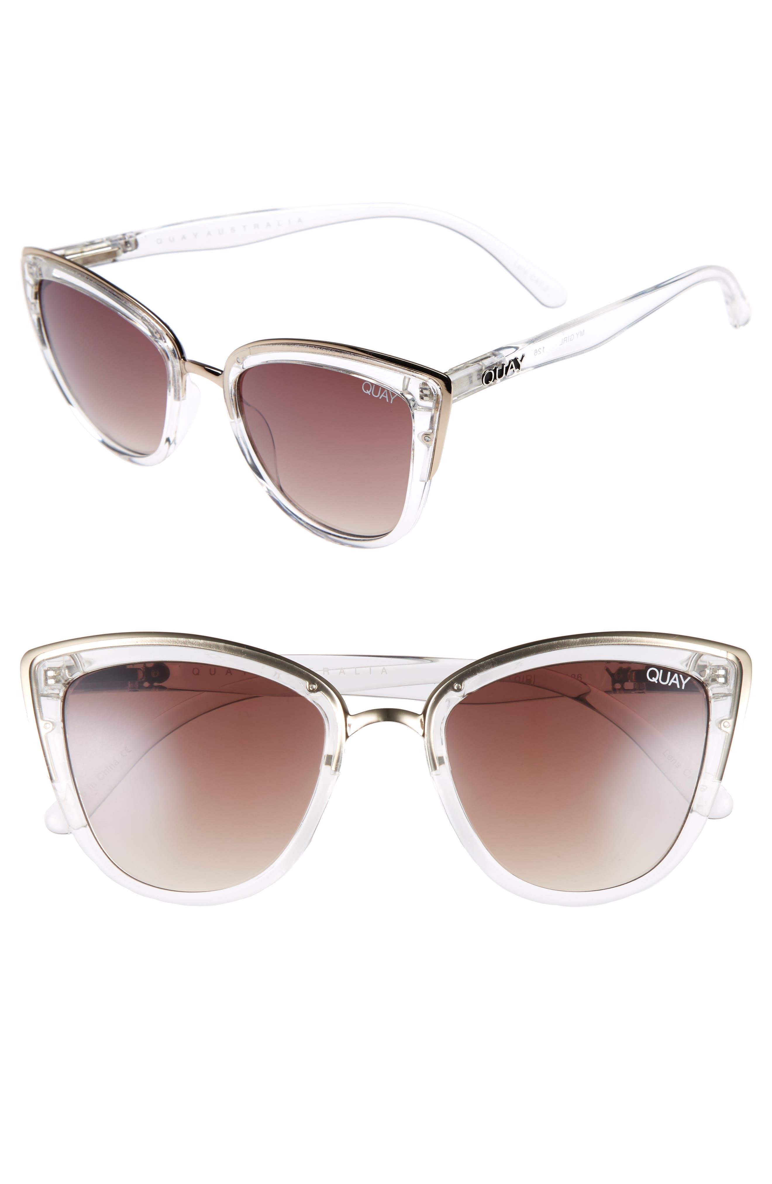 Image of QUAY AUSTRALIA 'My Girl' 50mm Cat Eye Sunglasses