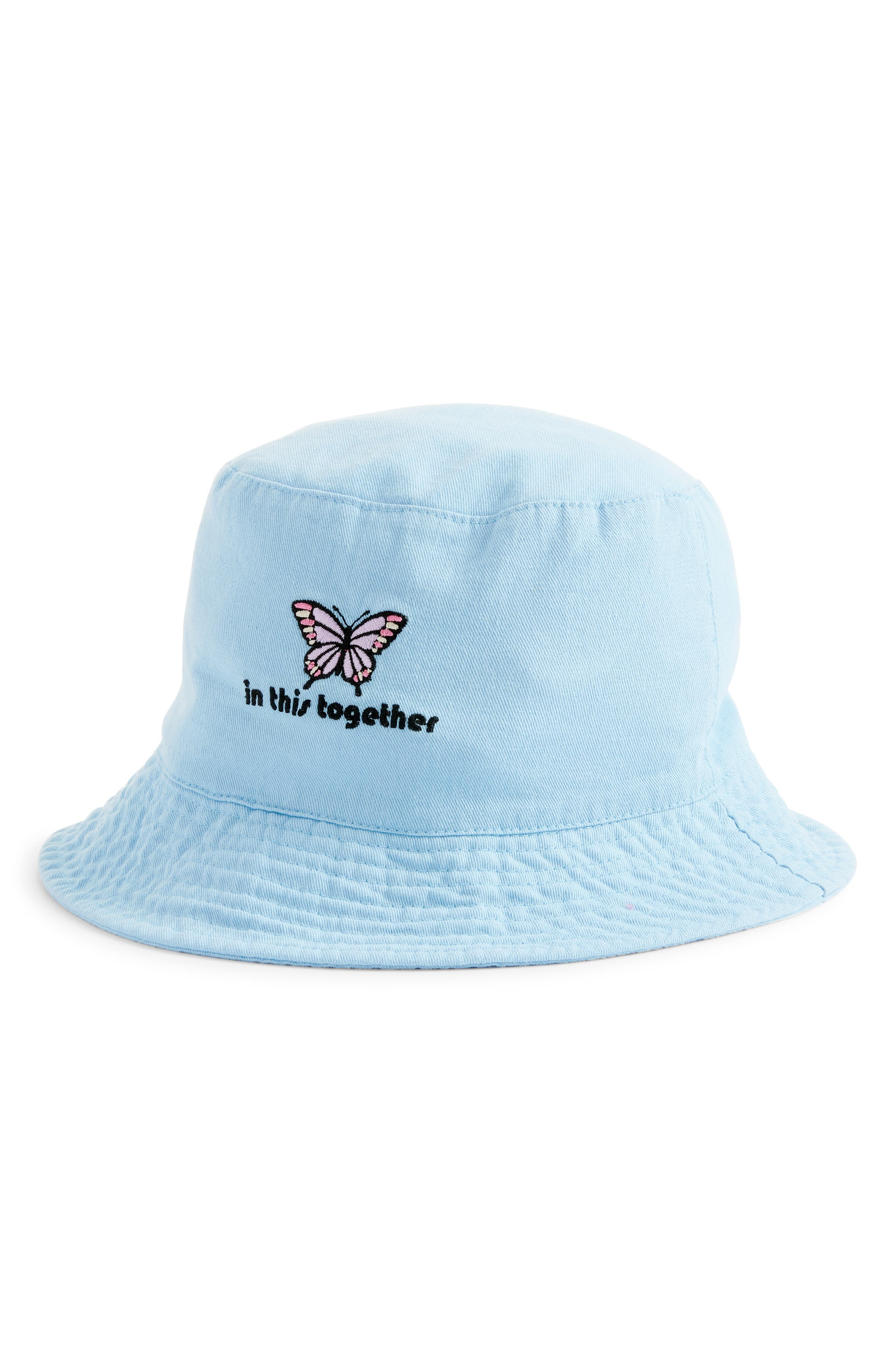 Bp. COTTON EMBROIDERED BUCKET HAT