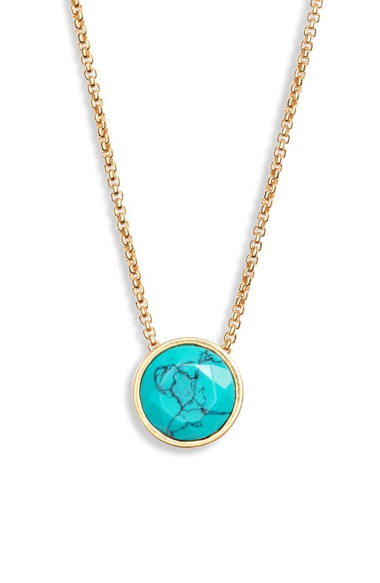 DEAN DAVIDSON Knockout Turquoise Pendant Necklace, Main, color, 710
