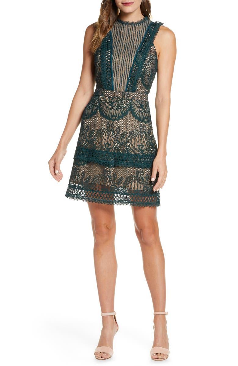 ADELYN RAE Cori Lace Dress, Main, color, 331